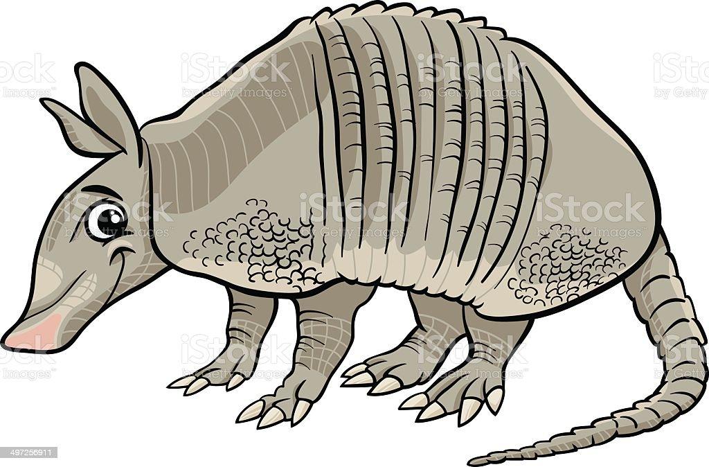 armadillo animal cartoon illustration vector art illustration