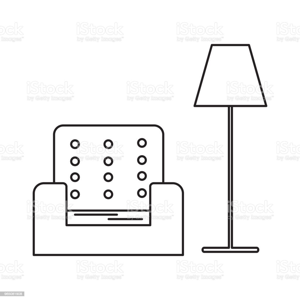 armchair and lamp icon royalty-free armchair and lamp icon stock vector art & more images of arm