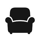Armchair black icon