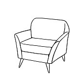 istock Armchair Drawing 1311090085