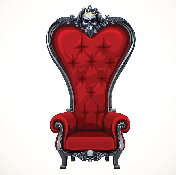 armchair high-backed baroque - stuhllehnen stock-grafiken, -clipart, -cartoons und -symbole