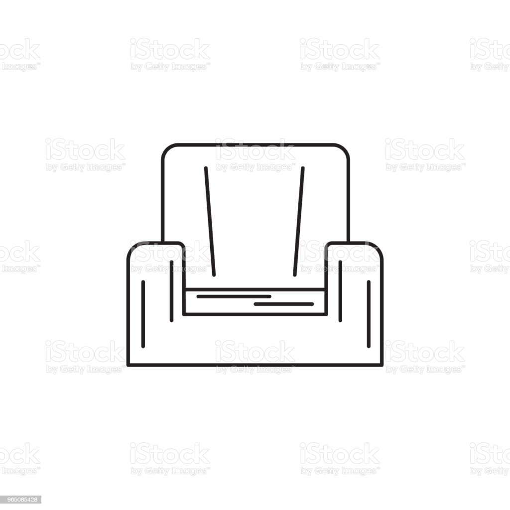 armchair line icon royalty-free armchair line icon stock vector art & more images of armchair