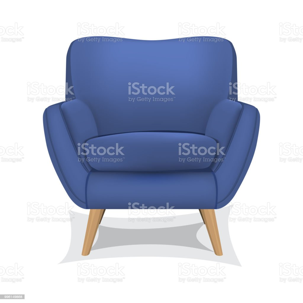 Armchair on white background vector art illustration