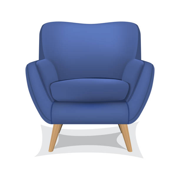 Armchair on white background Vector illustration of armchair on white background armchair stock illustrations