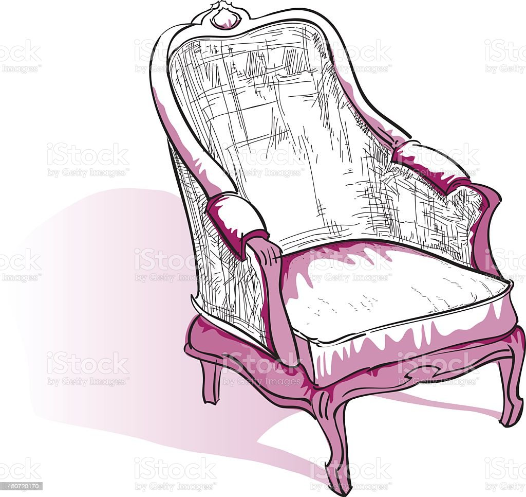 Sessel skizze  Sessel Skizze Vektor Illustration 480720170 | iStock