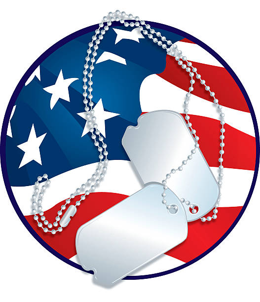 Armed Forces - Dog Tags and American Flag Graphic Armed Forces - Dog Tags and American Flag Graphic illustration. Check out my