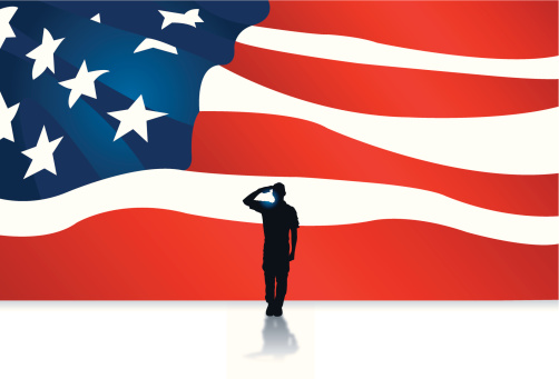 Armed Forces Salute - Military Soldier Background