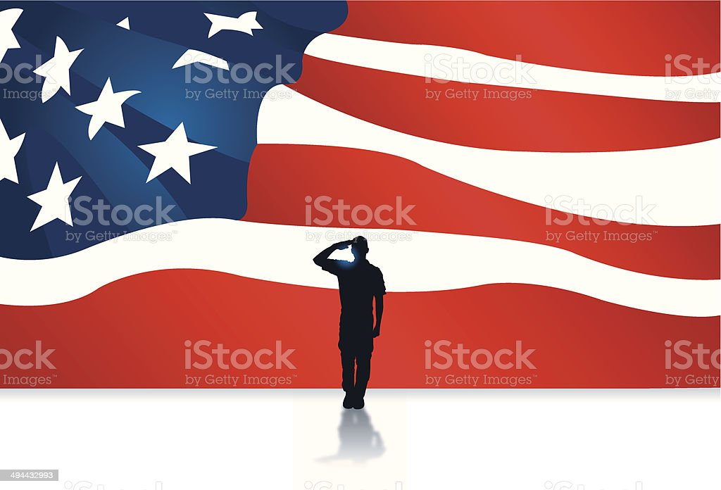 Armed Forces Salute - Military Soldier Background vector art illustration