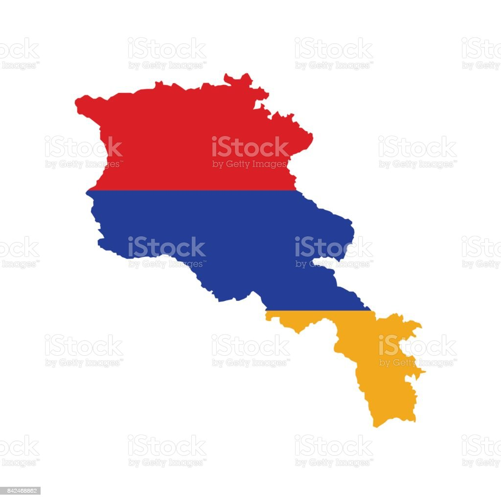 Armenia Flag And Map Stock Vector Art More Images Of Armenia