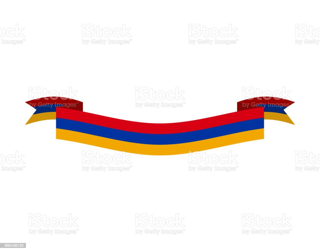 Armenia flag ribbon isolated. Armenian tape banner. National symbol countrys public armenia flag ribbon isolated armenian tape banner national symbol countrys public - arte vetorial de stock e mais imagens de acenar royalty-free