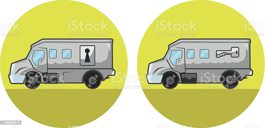 Armored car icon vector art illustration