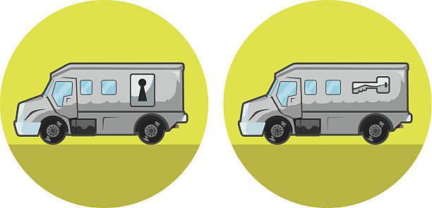 Armored car icon vector art illustration