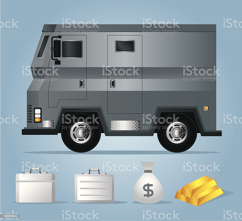 Armored Car vector art illustration