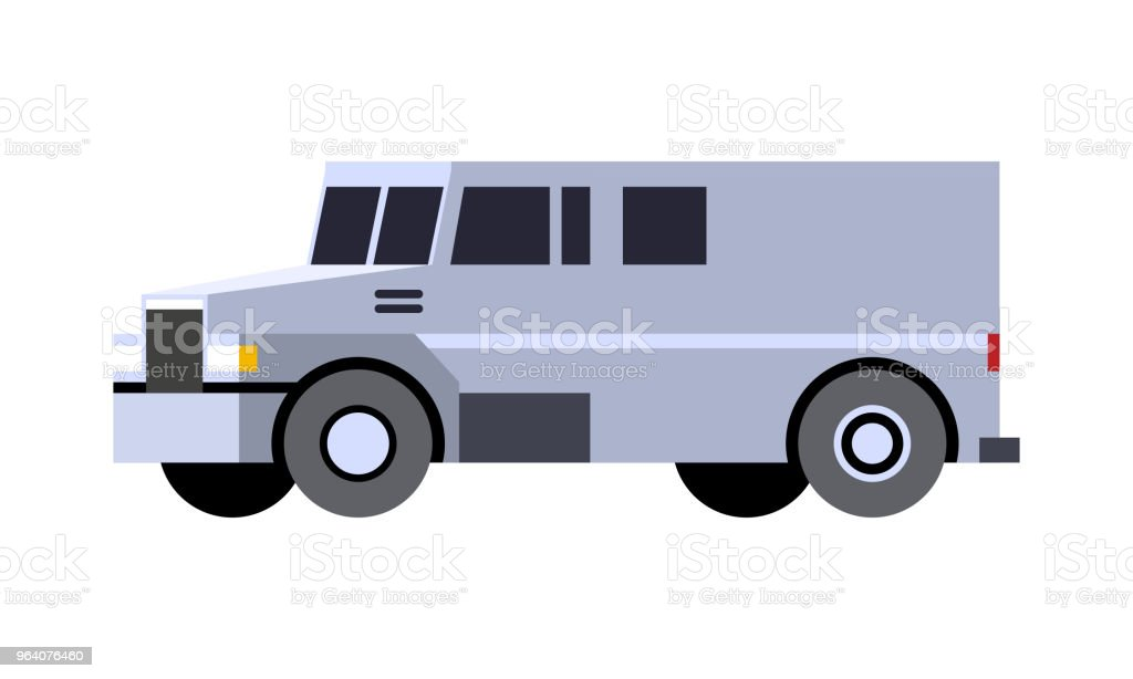 Armored cash truck - Royalty-free Abstract stock vector