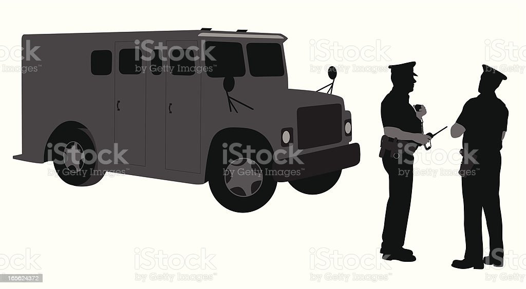 Armored Security Vector Silhouette vector art illustration