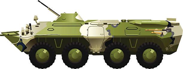 armored troop-carrier. vector art illustration