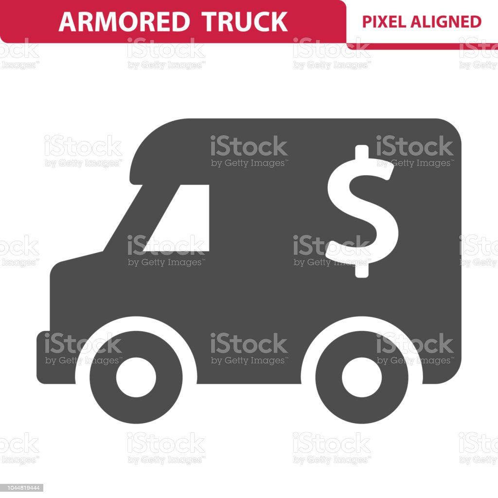 Armored Truck Icon vector art illustration