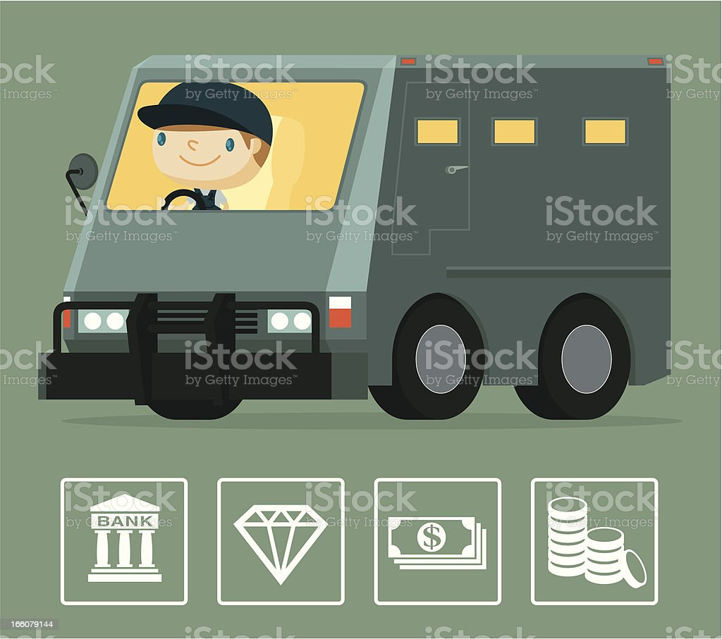 Armored Truck vector art illustration
