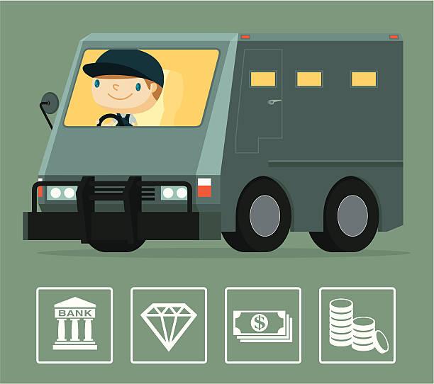 Armored Truck vector art illustration
