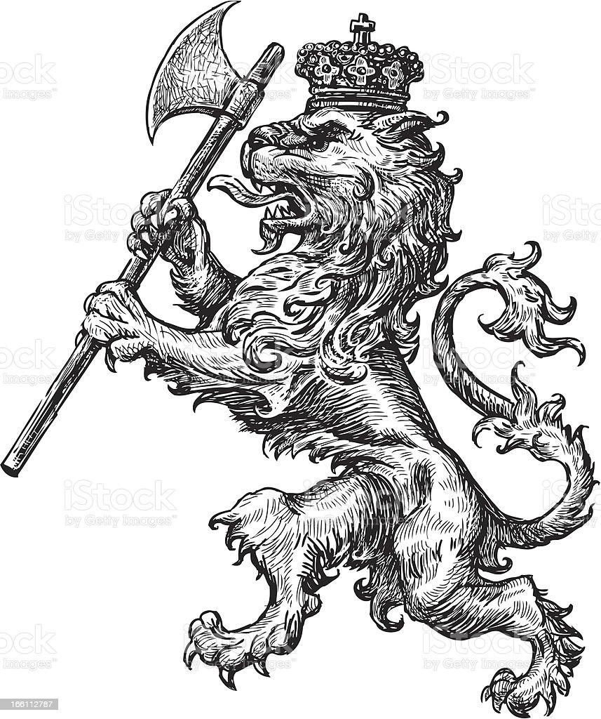 armorial lion royalty-free stock vector art