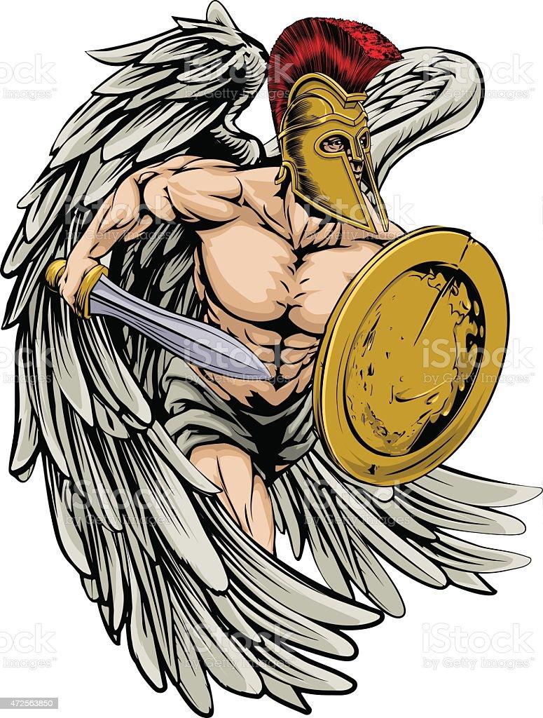 Armado ángel - ilustración de arte vectorial