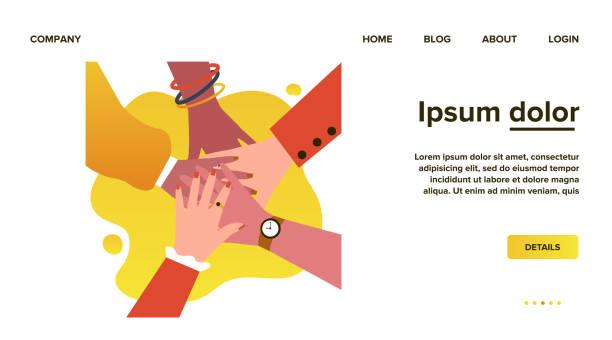 illustrazioni stock, clip art, cartoni animati e icone di tendenza di arms of multiethnic women - mano donna dita unite
