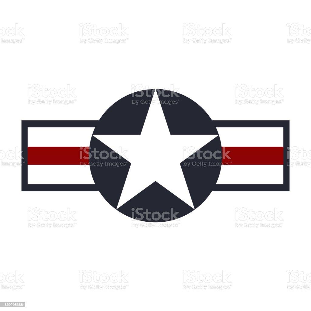 U.S. Army air force sign symbol. Vector