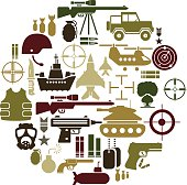 A set of military related icons