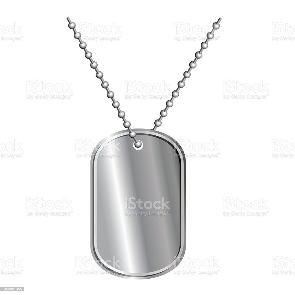 Ilustración de Ejército Tarjeta En Cadena Soldados Medallón De ...