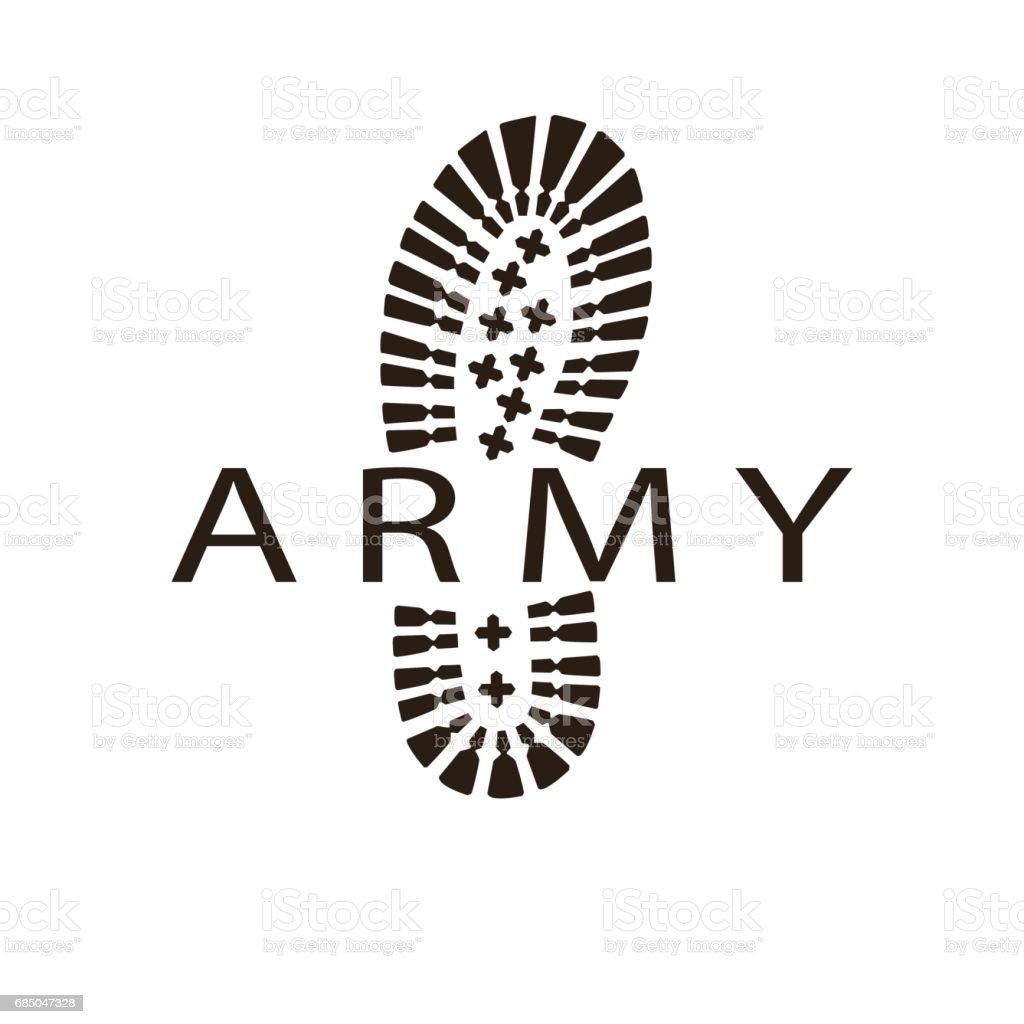 army boot vector art illustration