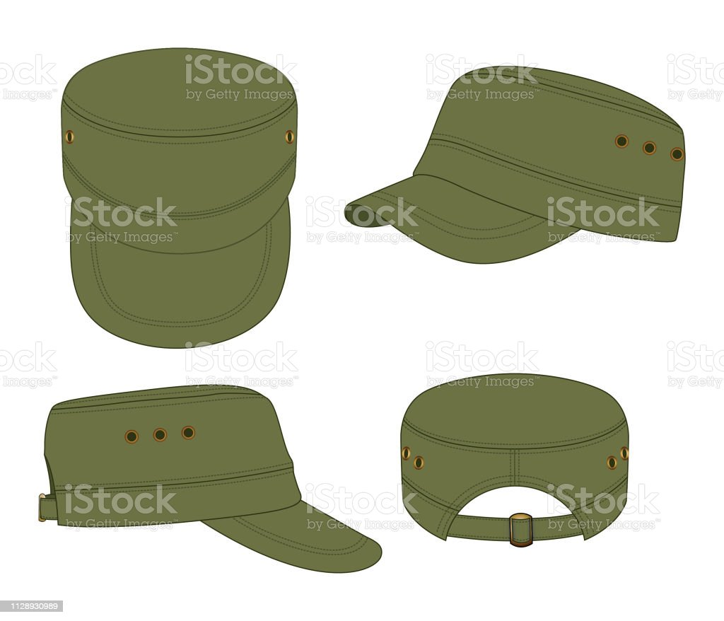 975368fcd70285 Army Cadet Cap Vector For Template Stock Vector Art & More Images of ...