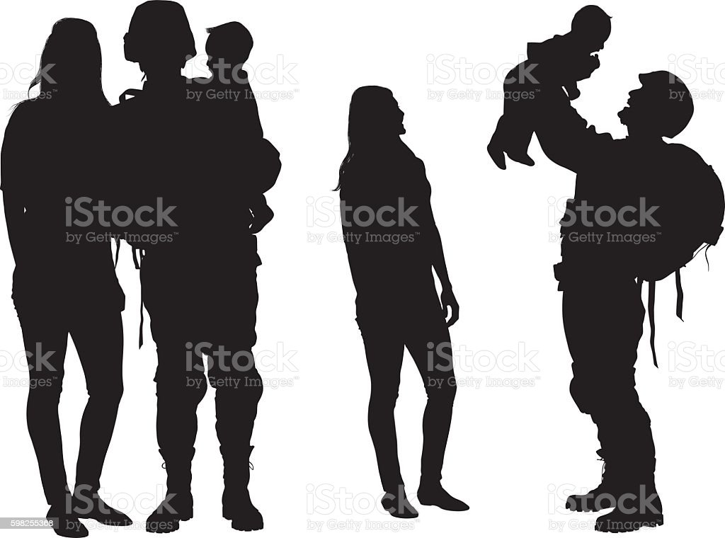 royalty free military family clip art vector images illustrations rh istockphoto com free military clipart army free military clipart vector