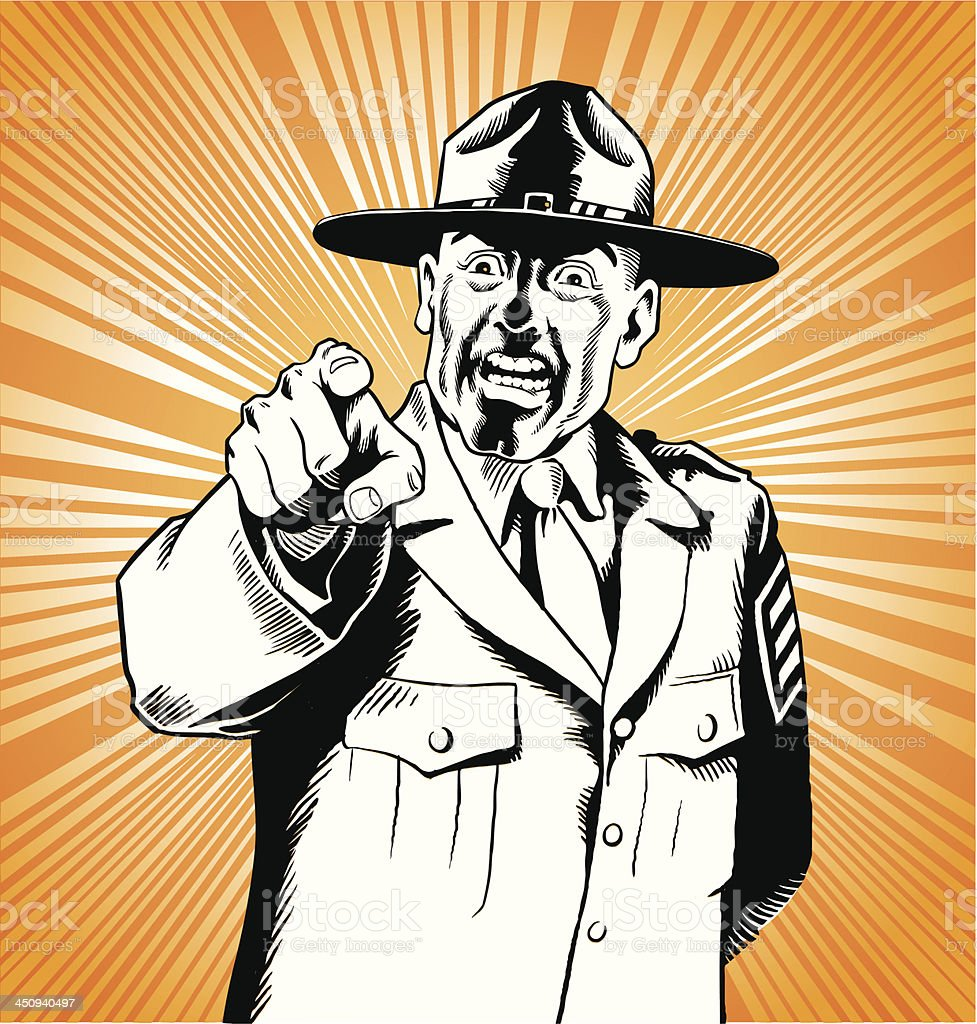 Army Drill Sergeant royalty-free army drill sergeant stock vector art & more images of adult