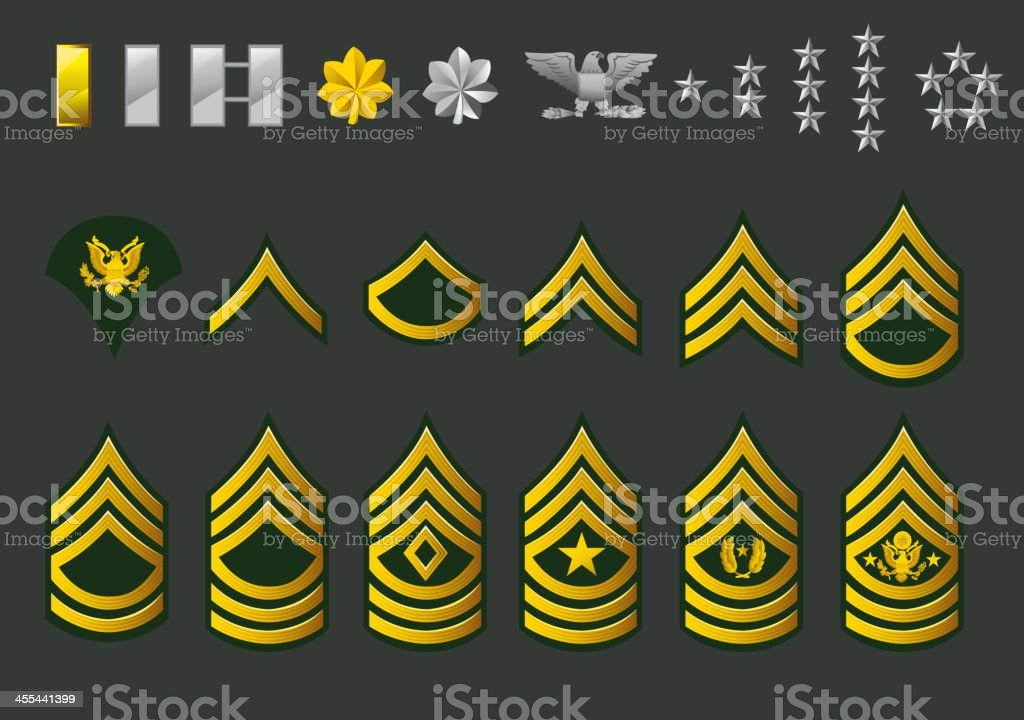 Us Army Enlisted Ranks Stock Vector Art & More Images of ...