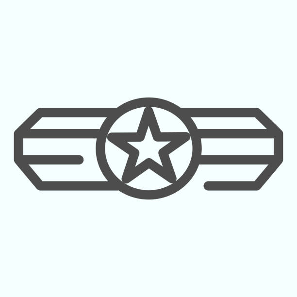 Army epaulet line icon. Military rank with one star vector illustration isolated on white. Army badge outline style design, designed for web and app. Eps 10. Army epaulet line icon. Military rank with one star vector illustration isolated on white. Army badge outline style design, designed for web and app. Eps 10 sergeant stock illustrations