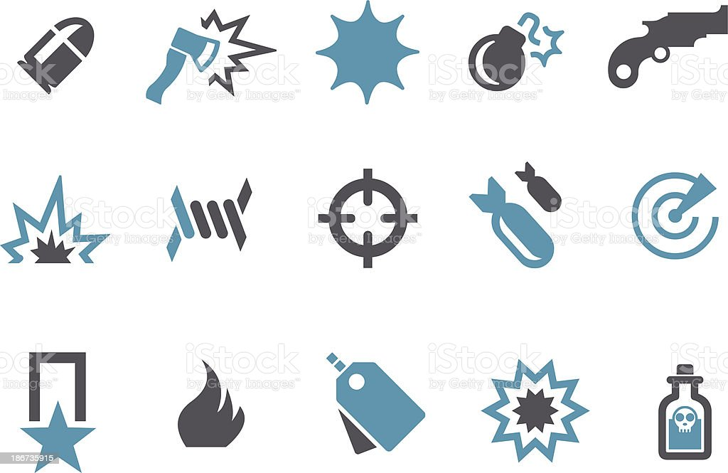 Army Icon Set royalty-free stock vector art