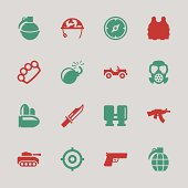 Army Icons Color Series Vector EPS10 File.