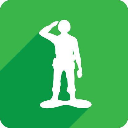 Army Man Icon Silhouette 1