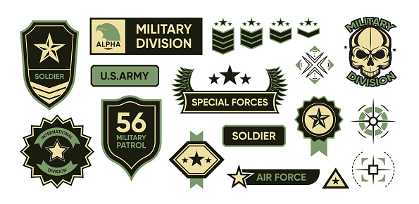 Army patches set