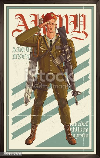 Classic military poster. eps9