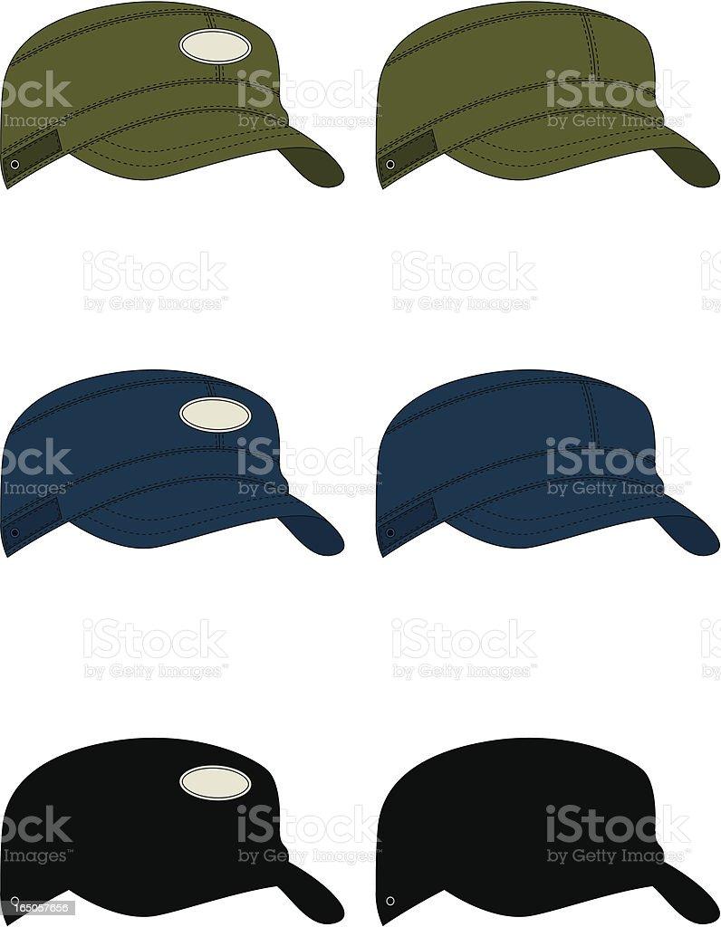 Army Style Baseball Cap royalty-free stock vector art