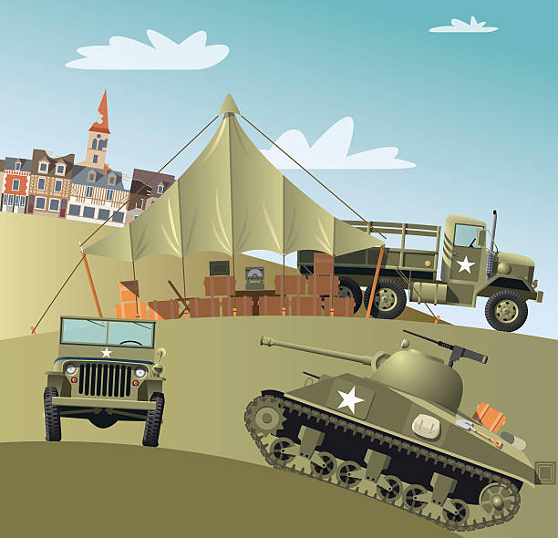 us army troops in second world war - world war ii stock illustrations, clip art, cartoons, & icons