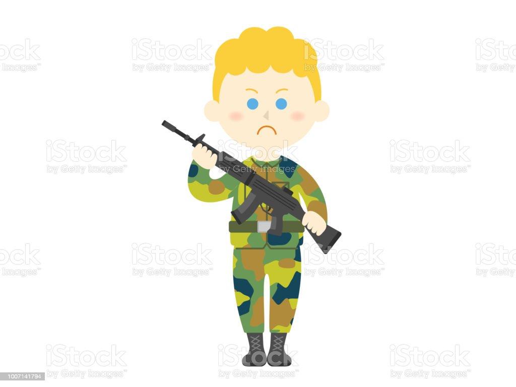 Exército - ilustração de arte em vetor