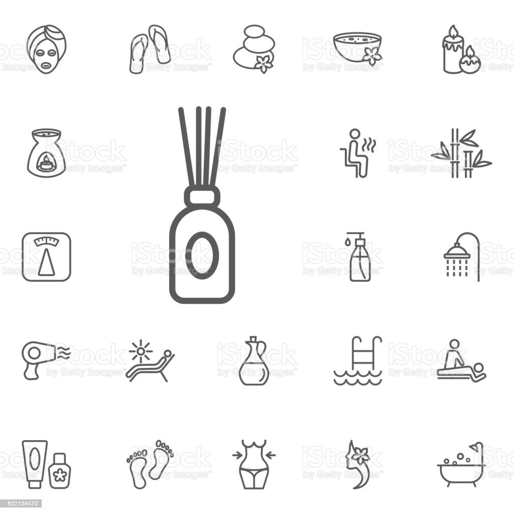 aroma stick icon. beauty set of icons vector art illustration
