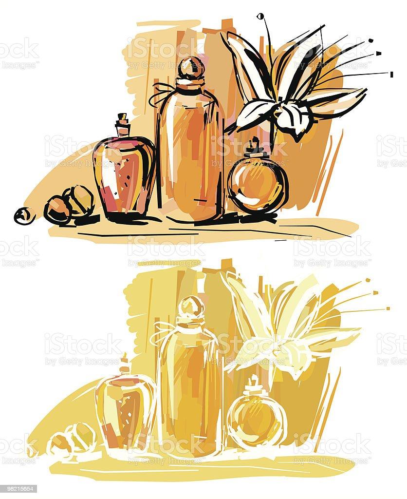 Profumo profumo - immagini vettoriali stock e altre immagini di ampolla - stoviglie royalty-free