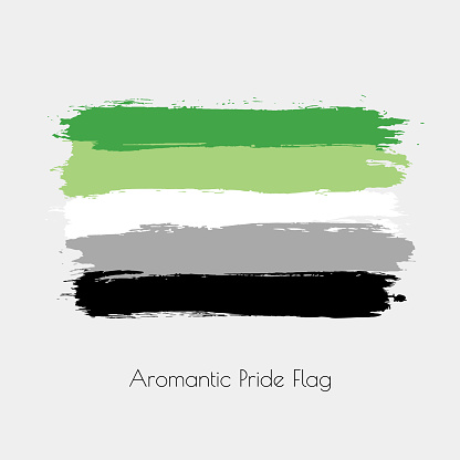 Aromantic lgbt vector watercolor flag