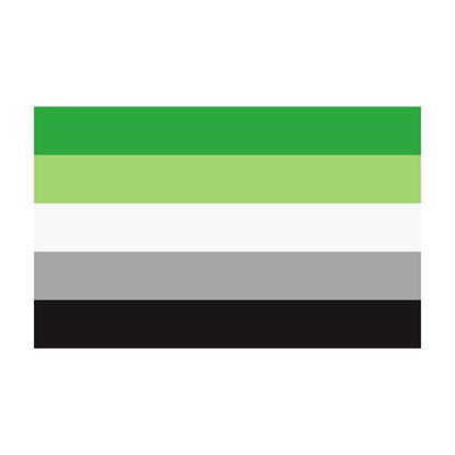Aromantic Pride Flag on Transparent Background