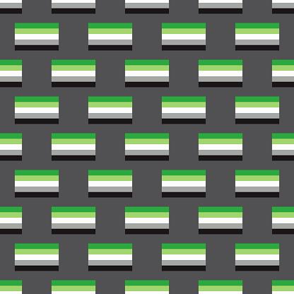 Aromantic Pride LGBTQIA Flag Pattern