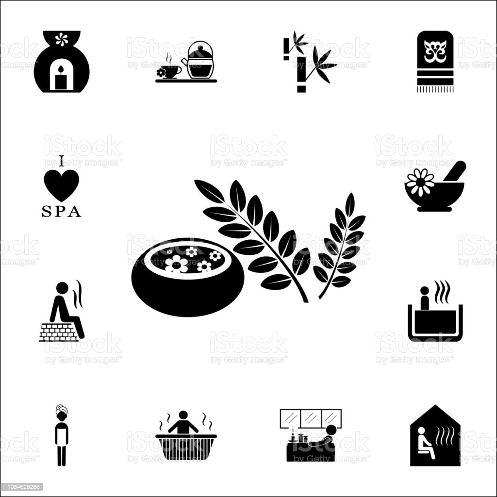 aromatherapy icon spa icons universal set for web and mobile stock