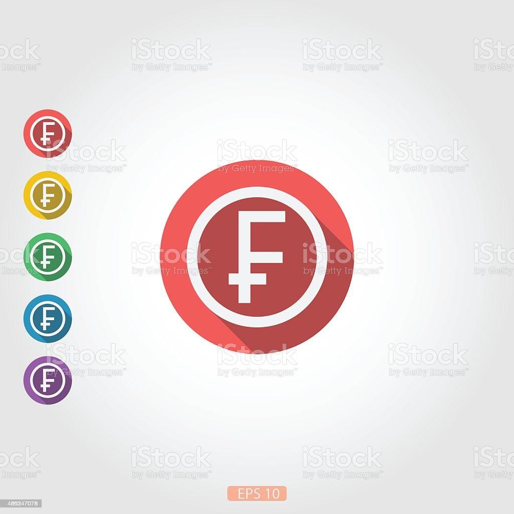 Around square icon badge franc vector art illustration